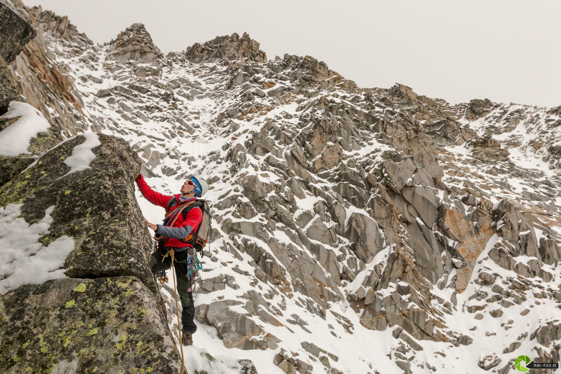 Richi am Südpfeiler der Hochalmspitze